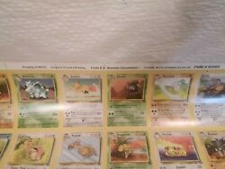 Pokemon Cards Jungle Form 3 Booster Uncommon. Full Sheet Free Shipping