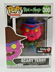 Funko Pop 300 Neon Scary Terry Gamestop Exclusive Rick And Morty