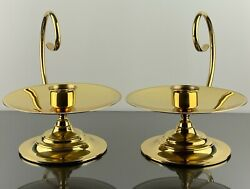 Baldwin Brass Hurricane Candle Holders No Glass Excellent Condition
