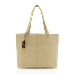 Vintage Grained Leather Charm Tote