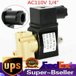 1/4 Electric Solenoid Brass Valve Gas Water Air Normal Closed N/c 110/120v Ac