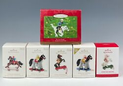 Hallmark Ornaments A Pony For Christmas 2010-2013 Lot Of 6 Mint In Boxes