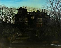 School English Victorian Of The End Of 19andegraveme Century - Manor At Dusk