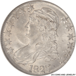 1827 Capped Bust Half Dollar Ngc Ms 63 Overton O-135 Square Base 2