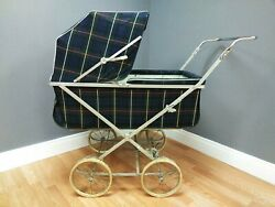 Vintage Baby Buggy Carriage Stroller 1950's Easy-fold Foot Brake Used Condition