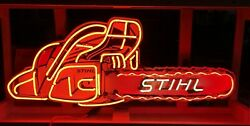 Animated Stihl Chainsaw Neon Sign Garage Signs For Men Chainsaw Signs Gifts Him