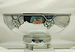 Antique Solid Silver Large Bowl Arts And Crafts Ae Jones 1937 663g 1835-9-kvnu