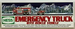 Hess Emergency Truck With Rescue Vehicle 2005 New In Box