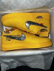 Nike Air Force 1 Low X Off-white University Gold Ds Size 12 Dd1876-700 In Hand