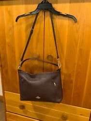 Coach Womens Hobo Pebbled Design Crossbody Hand Bag in the Color Oxblood $85.00