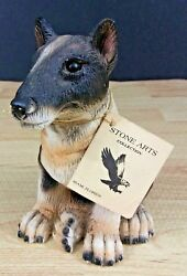 Pit Bull Terrier Puppy Dog Figurine Stone Arts Collection Hand Cast Original Tag
