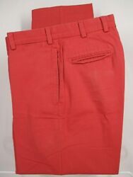 Bills Khakis M2 Mens Red Flat Front Cotton Chinos Pants Size 32x31