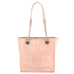 Deauville Pm Chain Tote Bag Leather Pink A93256 Purse 90136932