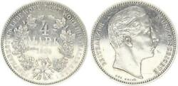 Probe Prussia 4 Mark Silver Coin 1904 With Anacs Certificate From 1984 Almost Xf