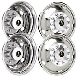 2012-2020 Dodge 4500 5500 19.5 Inch Stainless Steel Hubcaps Simulators 1o Lug