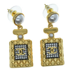 Sale Target 21ss A21 Engraved Perfume Bottle Earrings Gold Pearl Used