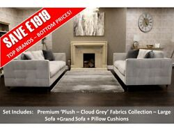 Barker And Stonehouse Franklin New Large Sofa + Grand Sofa + Pillow Cushions