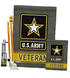 Us Army Veteran Garden Thick Fabric Made In Usa 1 X House And 1 X Garden Flags