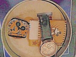 Fossil New Ltd Ed Mickey Mouse Gold Tone Retro Watch In Tin Can With Mm Coin