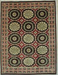 Eorc Fasp069rd9x12 Handwoven Wool Spanish Style Rug, 10'4 X 14'5, Red
