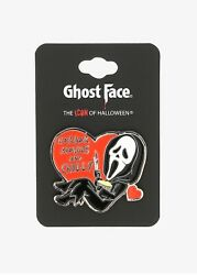 Scream Ghost Face Horror Movies And Chill Enamel Pin