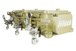 Fitech Fuel Injection Go Efi 3x2 Tri Power Efi System Classic Gold Pn 39610