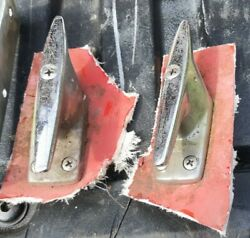 Arkansas Traveler Boat Cleats And Grab Handles. Chrome Outboard