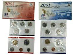 2001 Us Mint P D Uncirculated Coin Set W/envelope+coa ☆1 Set From Lot☆