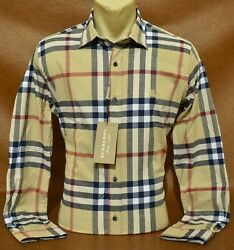 Brand New With Tags MEN#x27;S BURBERRY Long Sleeve Classic Fit SHIRT Size S to 2XL $65.90
