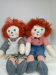 Vintage 70's Raggedy Anne And Andy 22 Dolls, Pre-owned In Nice Condition.