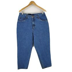 Deadstock Vintage Bill Blass Womens High Rise Mom Jeans Easy Fit Size 14 Short