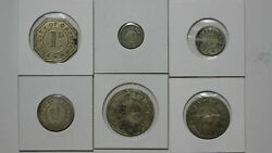 South Africa Capetown Catering Department Token Set 1-6 D, 1/-, 2/-, 2/6 Sc17m5