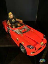 Vintage 1994 Stretch Armstrong Limo Red Convertible Car With Figure + Clothing