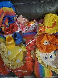 Vintage Cabbage Patch Kids Clown Outfits ,accessories Shoes Hat Coleco Halloween