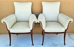 Pair Of 1940and039s Grosfeld House Hollywood Regency Art Deco Lounge Armchairs