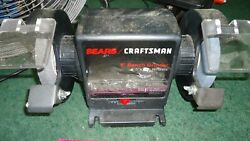 Sears Craftsman Vintage Bench Grinder 257.190430 With Manual Rubber Feet