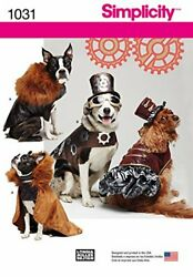 Simplicity Creative Patterns Us1031a Dog Costume Coats And Hats Size A S-m-l