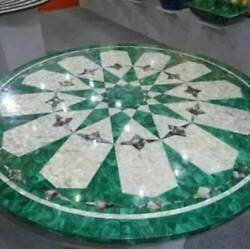 2and039x2and039 Marble Table Top Center Coffee Home Decor Inlay Pietra Dura Antique A28