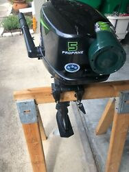 Lehr 5hp Outboard Engine Motor 4 Stroke Propane Gas- Runs Great Have Video