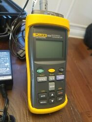 Fluke 1524 Handheld Digital Thermometer Readout 2-channel