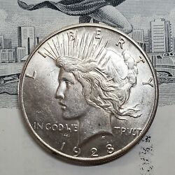1928-s Peace Silver Dollar 1 - Choice - Raw - Unc - Great Luster