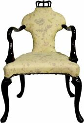 Vintage Queen Anne Arm Chair Stately Homes Collection 5139 By Baker