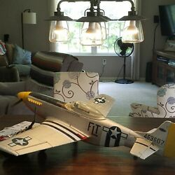 P-51d Dynam 1200cm, 47 Elect. Plane. Watch Youtube's Video On How To Fly It.