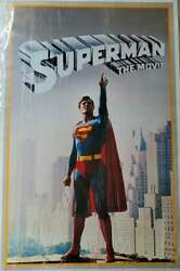 Original Dc Commercial Poster Superman The Movie 1978 23x36 Christopher Reeve