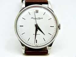 36mm. International Watch Company Vintage Steel Automatic Men Watch 1960and039s