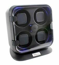 Versa Quad Watch Winder With Light In Black - Independently Controlled Settin...