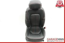 14-17 Maserati Ghibli Front Right Complete Seat Cushion Cover Assembly Black