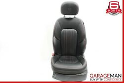14-17 Maserati Ghibli Front Left Complete Seat Cushion Cover Assembly Black