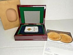 1787 Eb Brasher .999 Gold Half Doubloon Private Issue 2011 Ngc Gem Unc Box And Coa