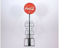 Rare 40s 50s Coca Cola Bottle Six Pack Display Stand Rack. Ex Cond Nr Mint